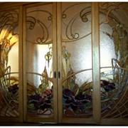 Изготовление витражей в двери. фото