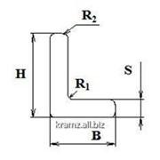 Уголок равносторонний шифр профиля S08/0001 H, мм 30 B, мм 20 S, мм 2 фото