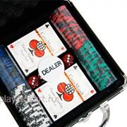 Покерный набор на 100 фишек с номиналом ГД6 - 100 фото