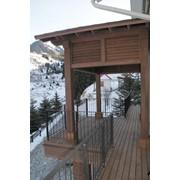 Террасы из древесины и ДПК фото