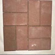 Плитка вибропрессованная. Вибропрессованная красная брусчатка. Толщина 40 или 60 мм, размер 100/200мм. фото