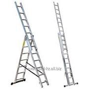 Лестницы алюминиевые трехсекционные марки Луч АЛ 3x11 от ТОО Avangard KZ фото