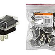 Клавишный переключатель YL-211-03 черный (влагозащищенный) 2 положения 1з TDM фото