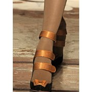 Шелковистая обувная лента фото