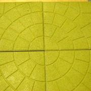 Резиновая плитка 350х350 высота 30 мм (Паутинка) фото