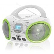 Аудиомагнитола BBK BX100U белая с зеленым фото