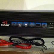 Преобразователь авто инвертор 12V-220V, 1500W USB фото