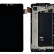 Дисплей для Nokia 950 Dual (RM-1118) в сборе с тачскрином (черный) с рамкой фото