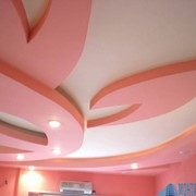 Монтаж многоуровнего потолка из гипсокартона фото