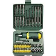 Набор Kraftool Отвертка реверсивная с битами и торцевыми головками и сверлами, 43 предм Код: 25556-H43 фото