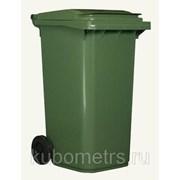 Мусорные контейнеры, баки пластиковые 120л фото