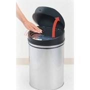 Корзина для мусора сенсорная бесконтактная (сталь, пластик) фото