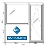 "Балконный блок ""Veka Euroline 58"" фото"