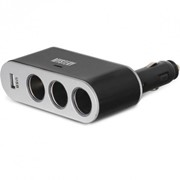 MCU 3U + USB Mystery разветвитель автомобильного прикуривателя, Розничная, Черный фото
