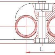 Опорный зажим для двух полых проводов (тип ОЗПП) фото