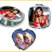 Зеркальце косметическое с фото, логотипом фото