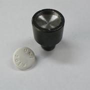 Насадка для кнопки №61 - подставка металлическая под шляпку пластиковую 15мм фото