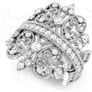 Кольцо Fashion из золота с бриллиантами. фото