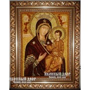 Икона Божией Матери Избавительница - Икона Ручной Работа, Из Янтаря Код товара: Оар-20 фото