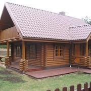 Дома и бани из оцилиндрованного бревна фото