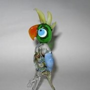 Стеклянное изделие Попугай. фото