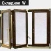 Окно деревянное складное W фото