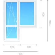 Блок комбинированный - окно неоткрываемое, балконная дверь фото
