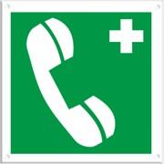 Медицинский знак, код EC 06 Телефон связи с медицинским пунктом фото