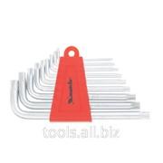 Набор ключей имбусовых Torx, 9 штук, T10-T50, коротких фото
