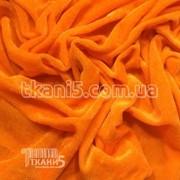 Ткань Велюр (Оранжевый) 93 фото