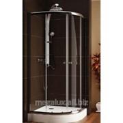 Душевая кабина полукруглая, стекло прозрачное, профиль хром, 80х185 см Aquaform Salvador фото