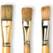 Кисть плоская для декорирования фото