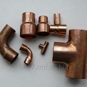 Медные трубы и фитинги (отводы, переходы, тройники), фото
