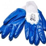 Перчатки МБС синие (нитриловые) фото