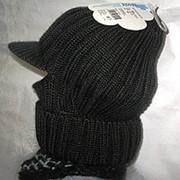 Шапка-шлем вязаная однослойная для мальчика фото