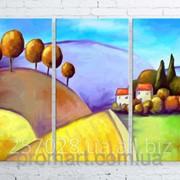 Модульна картина на полотні Кольоровий пейзаж код КМ100150-028 фото