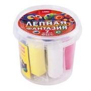 Набор для творчества Лепная фантазия в ведре, 7 цветов по 6 гр фото