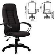 "Кресло для руководителя Metta ""BP-2PL"", ткань, темно-серое фото"