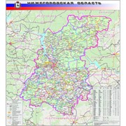 Настенная карта Нижегородской области 1 фото