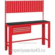 Верстак инструментальный, ящик, задняя панель, красный МАСТАК 541-11500R фото