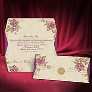 Красочные приглашения в фиолетовых тонах фото