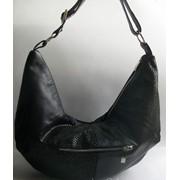 Оригинальная черная женская кожаная сумка М 244 фото