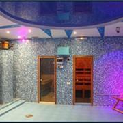 Сауна с циркулярным душем фото