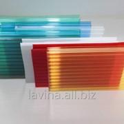 Поликарбонат сотовый цветной, 2,1х12 м, толщина 25 мм фото