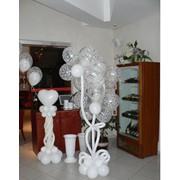Композиции из воздушных шаров фото