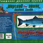Палочки лососевые подкопченные. фото