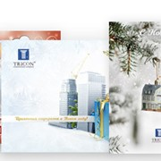 Изготовление открыток, корпоративные поздравительные открытки фото