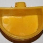 Кормушка для хомяка полукруг с держателем, 7 см фото