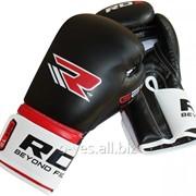 Боксерские перчатки RDX Rex Leather Black фото