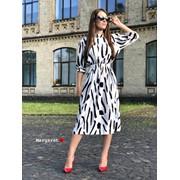 Женское платье миди с карманами, в расцветках. БЛ-5-0718 фото
